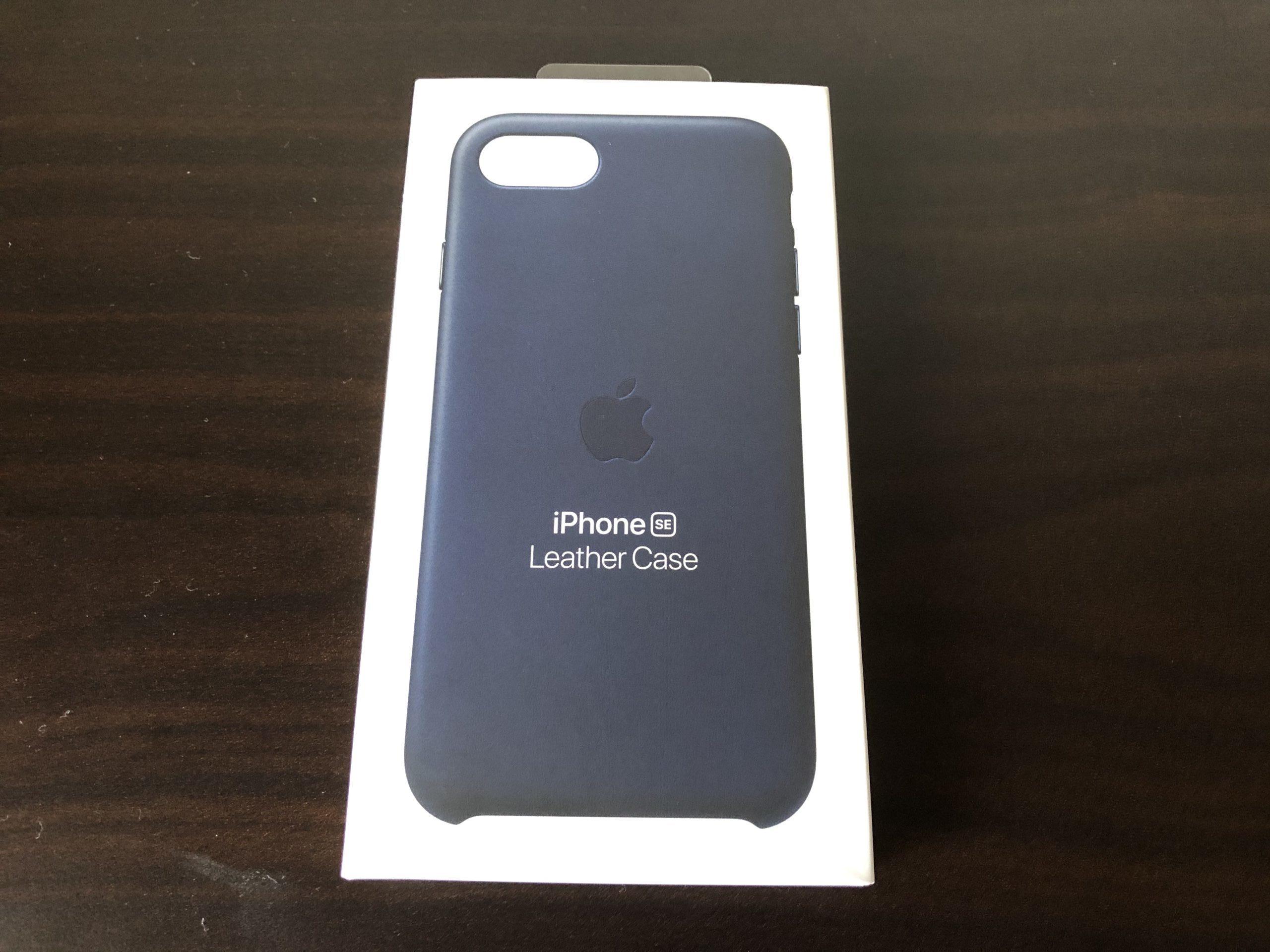 iPhone SE 純正レザーケース  質感と手触りに作り手のこだわりを感じます!